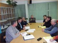 Člani ZPSPS z županom; z leve strani: mag.Vladimir Hunjadi, Miroslav Kosi, Pučko Andrej, Franc Štih, župan g. Alojz Sok, Franc Veršič in Premuš Marjan.